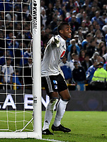 BOGOTÁ - COLOMBIA, 15-01-2019: Wuilker Fariñez, guardavallas de Millonarios, en acción, durante partido entre Independiente Santa Fe y Millonarios, por el Torneo Fox Sports 2019, jugado en el estadio Nemesio Camacho El Campin de la ciudad de Bogotá. / Wuilker Fariñez, goalkeeper of Millonarios, in action, during a match between Independiente Santa Fe and Millonarios, for the Fox Sports Tournament 2019, played at the Nemesio Camacho El Campin stadium in the city of Bogota. Photo: VizzorImage / Luis Ramírez / Staff.