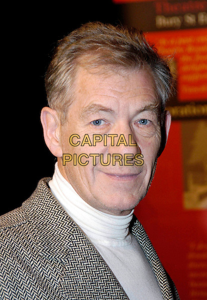 SIR IAN MCKELLEN.launch of Restoration Appeal for the Theatre Royal in Bury St Edmunds, Theatre Museum, Covent Garden.portrait, headshot.www.capitalpictures.com.sales@capitalpictures.com.©Capital Pictures