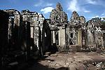 The ruins of Bayon at Angkor Thom, Cambodia. June 7, 2013.
