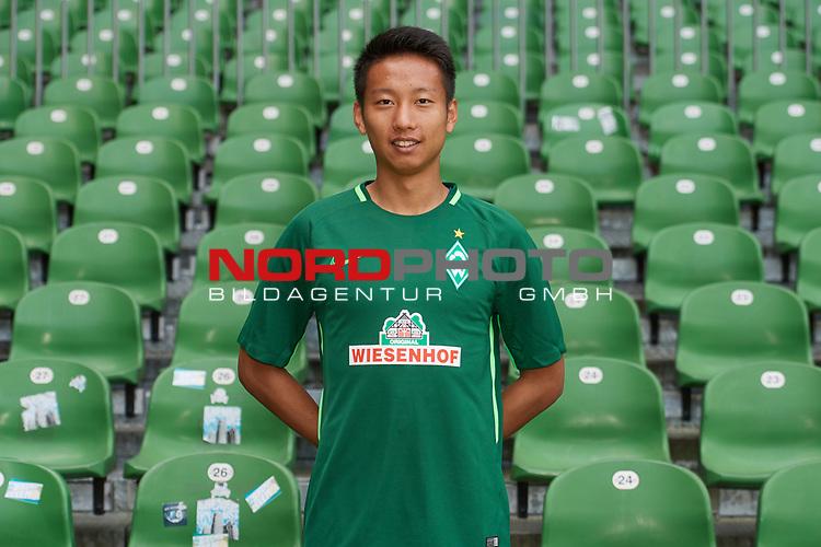 Fu&szlig;ball, GER, /3.Liga, Portr&auml;ttermin 2017/2018,<br /> <br /> Tian Ci (Werder Bremen #41)<br /> <br /> Foto &copy; nordphoto / Kokenge
