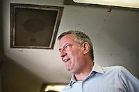 Democratic mayoral candidate Bill de Blasio rides the Staten Island ferry in New York September 4, 2013 by Kena Betancur / VIEWpress
