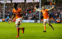 Blackpool's Armand Gnanduillet can't believe he hasn't been awarded a goal by assistant referee Richard Bartlett<br /> <br /> Photographer Alex Dodd/CameraSport<br /> <br /> The EFL Sky Bet League One - Blackpool v Sunderland - Tuesday 1st January 2019 - Bloomfield Road - Blackpool<br /> <br /> World Copyright © 2019 CameraSport. All rights reserved. 43 Linden Ave. Countesthorpe. Leicester. England. LE8 5PG - Tel: +44 (0) 116 277 4147 - admin@camerasport.com - www.camerasport.com