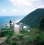 Look out point over coastal scenery, near Lorne, Victoria, Australia