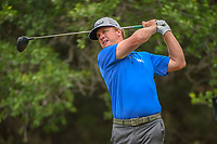 Charley Hoffman (USA) watches his tee shot on 14 during Round 3 of the Valero Texas Open, AT&T Oaks Course, TPC San Antonio, San Antonio, Texas, USA. 4/21/2018.<br /> Picture: Golffile | Ken Murray<br /> <br /> <br /> All photo usage must carry mandatory copyright credit (© Golffile | Ken Murray)