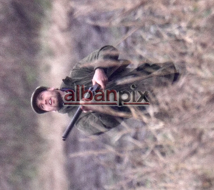 ©Albanpix.com-Picture by Jerry Daws.Prince William with a beard on a shoot at Sandringham estate 13-12-08
