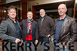 Mike Leahy,Damien Greer, Henry Bartlett and Brendan Williams at the John Buggy Launch of his new Album  'The Long Road Home' at Benners Hotel on Friday