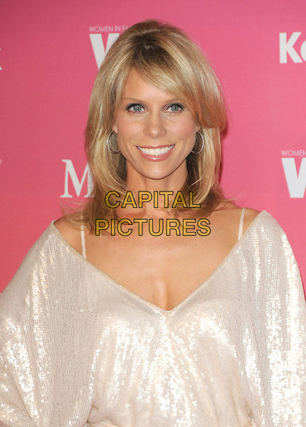 CHERYL HINES .at The Women in Film 2009 Crystal .and Lucy Awards held at The Hyatt Regency Century Plaza in Century City, California, USA, June 12th 2009                                                                     .portrait headshot cleavage v-neck straps white dress shiny sparkly sequined .CAP/DVS.©Debbie VanStory/RockinExposures/Capital Pictures