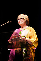 Kathy Bathes, actress and President of the 2006 Jury and Serge Losique, Founder and President, Montreal World Film Festival (Festival des Film du Monde de Montreal) on the closing night,Sept 4, 2008 -<br /> <br /> Best remembered for her terrifying portrayal of obsessed fan Annie Wilkes in Misery, Bates held up a stellar career after that Oscar-winning performance with films like Titanic, Fried Green Tomatoes and the highly acclaimed new release, About Schmidt.
