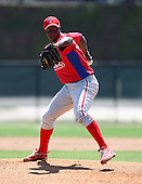 March 30, 2010:  Pitcher Santos Hernandez of the Philadelphia Phillies organization during Spring Training at the Carpenter Complex in Clearwater, FL.  Photo By Mike Janes/Four Seam Images