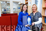 St Brigids Preseentation student Sarah McGrath who won this years Mon Hugh O'Flaherty 2nd Level Poetry competition with her teacher Vivienne Buckley on Tuesday