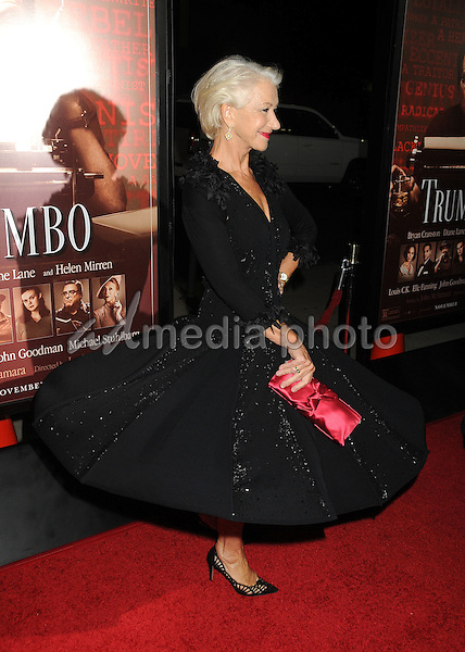 "27 October 2015 - Beverly Hills, California - Helen Mirren. ""Trumbo"" Los Angeles Premiere held at the AMPAS Samuel Goldwyn Theater. Photo Credit: Byron Purvis/AdMedia"