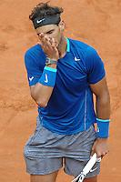 Rafael Nadal.<br /> Roma 18-05-2014 Foro Italico, finale del singolare maschile degli  Internazionali d'Italia di Tennis. Foto Antonietta Baldassarre / Insidefoto