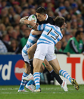 Rugby World Cup Auckland  New Zealand v Argentina Quarter Final 4 - 09/10/2011.Sonny Bill Williams (New Zealand) .Photo Frey Fotosports International/AMN Images