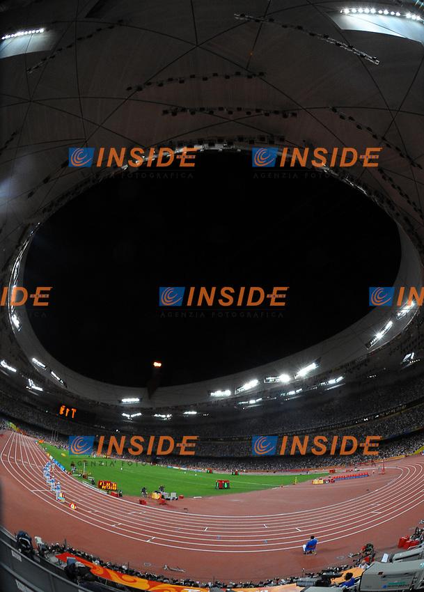 Lo stadio dell'atletica leggera<br /> National Stadium - Bird Nest<br /> Pechino - Beijing 16/8/2008 Olimpiadi 2008 Olympic Games<br /> Foto Andrea Staccioli Insidefoto
