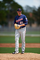Minnesota Twins Keaton Steele (21) during a minor league Spring Training intrasquad game on March 15, 2016 at CenturyLink Sports Complex in Fort Myers, Florida.  (Mike Janes/Four Seam Images)