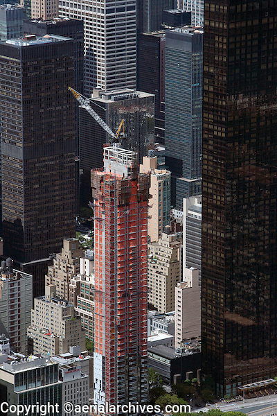 aerial photograph high rise construction upper east side, Manhattan, New York City