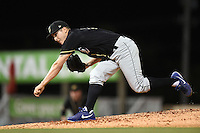 Omaha Storm Chasers pitcher Ryan Verdugo (7) delivers a pitch during the second game of a double header against the Nashville Sounds on May 21, 2014 at Herschel Greer Stadium in Nashville, Tennessee.  Nashville defeated Omaha 13-4.  (Mike Janes/Four Seam Images)