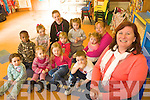 Bernie O'Carroll, project co-ordinator at the Shanakill Centre with some of the pre-school Children at the centre.
