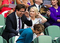 Michael McIntyre at Centre Court for the Gentlemen's Singles Final<br /> <br /> Photographer Ashley Western/CameraSport<br /> <br /> Wimbledon Lawn Tennis Championships - Day 13 - Sunday 16th July 2017 -  All England Lawn Tennis and Croquet Club - Wimbledon - London - England<br /> <br /> World Copyright &not;&copy; 2017 CameraSport. All rights reserved. 43 Linden Ave. Countesthorpe. Leicester. England. LE8 5PG - Tel: +44 (0) 116 277 4147 - admin@camerasport.com - www.camerasport.com