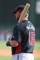 Brian McCann of the Atlanta Braves vs. the St. Louis Cardinals March 16th, 2007 at Champion Stadium in Orlando, FL during Spring Training action.  Photo By Mike Janes/Four Seam Images