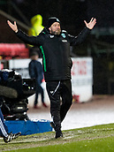 16th March 2018, McDiarmid Park, Perth, Scotland; Scottish Premier League football, St Johnstone versus Hibernian; Garry Parker Hibernian Coach on the touchline