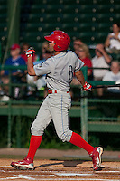 May 6 2010: Steve Susdorf (8) of the Clearwater Threshers during a game vs. the Daytona Cubs at Jackie Robinson Ballpark in Daytona Beach, Florida. Clearwater, the Florida State League High-A affiliate of the Philadelphia Phillies, won the game against Daytona, affiliate of the Chicago Cubs, by the score of 8-3.  Photo By Scott Jontes/Four Seam Images