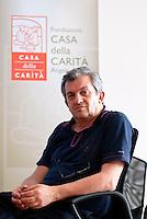 """- Milano, Casa della Carità, il presidente Don Virgino Colmegna presenta """"Exponiamoci - la carovana del possibile""""..- Milano, Casa della Carità welfare Institution, the president Don Virginio Colmegna"""