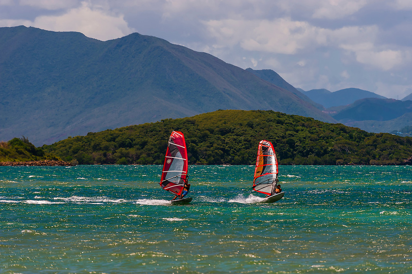 Windsurfing, Magenta Bay, Noumea, Grand Terre, New Caledonia