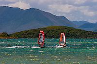 New Caledonia-Noumea-Magenta Bay-Windsurfing