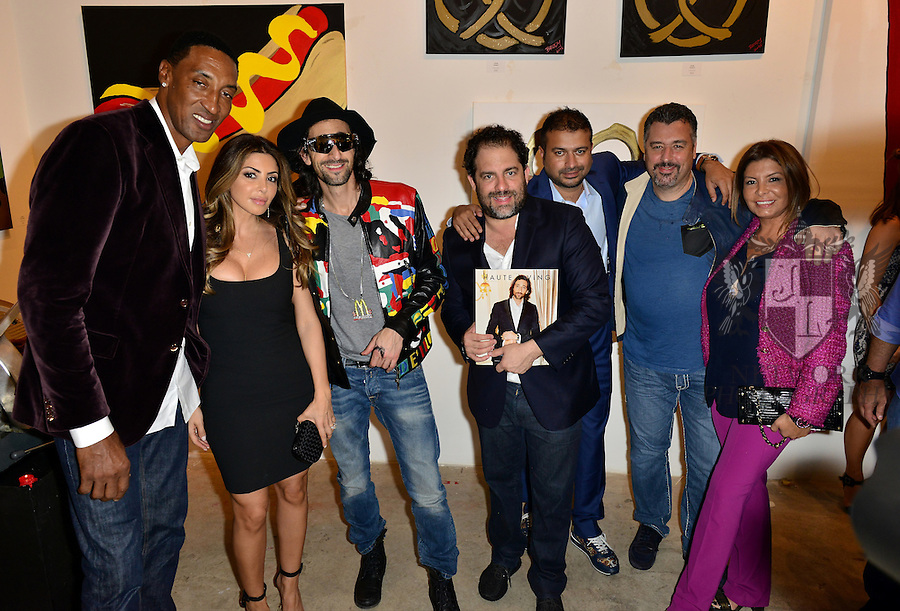 MIAMI, FL - DECEMBER 02: Scottie Pippen, Larsa Younan, Adrien Brody, Brett Ratner, Kamal Hotchandani and Guest attends Haute Living And Zacapa Rum Present Domingo Zapata at Lulu Laboratorium on Wednesday December 2, 2015 in Miami, Florida. (Photo by Johnny Louis/jlnphotography.com)