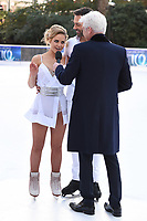 "Stephanie Waring and Sylvain Longchambon with Phillips Schofield<br /> at the ""Dancing on Ice"" launch photocall, natural History Museum, London<br /> <br /> <br /> ©Ash Knotek  D3365  19/12/2017"