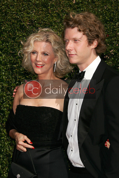 Blythe Danner and son<br />