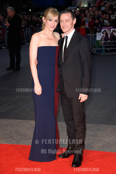 Anne Marie Duff &amp; James McAvoy at the BFI London Film Festival premiere of &quot;Suffragette&quot; at the Odeon Leicester Square, London.<br /> October 7, 2015  London, UK<br /> Picture: Steve Vas / Featureflash