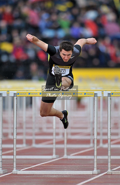 Andrew Pozzi (GBR) 110m hurdles  - PHOTO: Mandatory by-line: Garry Bowden/SIP/Pinnacle - Photo Agency UK Tel: +44(0)1363 881025 - Mobile:0797 1270 681 - VAT Reg No: 768 6958 48 - 13/07/2012 - Samsung Diamond League, Crystal Palace, London, England