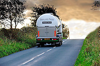 Bowland Fresh milk tanker near Lancaster, Lancashire....Copyright..John Eveson, Dinkling Green Farm, Whitewell, Clitheroe, Lancashire. BB7 3BN.01995 61280. 07973 482705.j.r.eveson@btinternet.com.www.johneveson.com