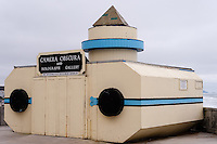 United States, California, San Francisco. The Cliff House is a restaurant on the cliffs just north of Ocean Beach. The large Camera Obscura.
