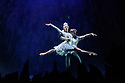 Edinburgh, UK. 06.12.2019. Scottish Ballet presents the world premiere of The Snow Queen, at the Festival Theatre. The work is choreographed by Christopher Hampson, to the music of Rimsky-Korsakov, with set and costume design by Lez Brotherston, and lighting design by Paul Pyant.  The cast is: Constance Devernay (Snow Queen), Bethany Kingsley-Garner (Gerda), Andrew Peasgood (Kai), Kayla-Maree Tarantolo (Lexi). The picture shows: Constance Devernay (Snow Queen), Andrew Peasgood (Kai). Photograph © Jane Hobson.