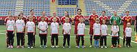 Belgian Red Flames - Noorwegen :<br /> <br /> Belgian Red Flames : Justien Odeurs (1), Maud Coutereels (4), Tine de Caigny (6), C&eacute;cile De Gernier (8), Tessa Wullaert (9), Aline Zeler (10), Janice cayman (11), Sara Yuceil (15), Imke Courtois (19), Julie Biesmans (20), Laura deloose (22)<br /> <br /> foto VDB / BART VANDENBROUCKE