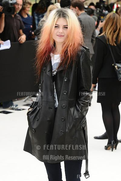 Alison Mosshart arriving for the Burberry Prorsum catwalk show as part of London Fashion Week SS13, Kensington Gardens, London. 17/09/2012 Picture by: Steve Vas / Featureflash