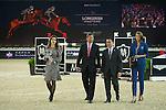 Hong Kong Jockey Club Trophy during the Longines Masters of Hong Kong on 19 February 2016 at the Asia World Expo in Hong Kong, China. Photo by Juan Manuel Serrano / Power Sport Images