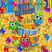 Isabella, CHILDREN BOOKS, BIRTHDAY, GEBURTSTAG, CUMPLEAÑOS, paintings+++++,ITKE049061AS-L,#BI#, EVERYDAY,owls ,balloons