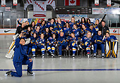 MORDEN, MB– Nov 4 2019: Team Alberta during the 2019 National Women's Under-18 Championship at the Access Event Centre in Morden, Manitoba, Canada. (Photo by Matthew Murnaghan/Hockey Canada Images)