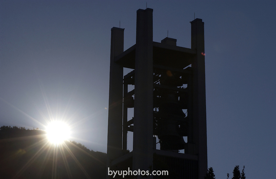 GCS 10/8/02 Bell Tower Sunrise..Photo by Jaren Wilkey/BYU