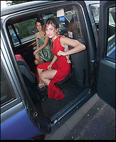 BNPS.co.uk (01202) 558833<br /> Picture: Peter Willows<br /> <br /> **exclusive/not online**<br /> <br /> Isabelle Papandronicou arrives at the prom (back: Valentina Quintero)<br /> <br /> Teenage amputee Isabelle Papandronicou has got a new prosthetic leg that has enabled her to wear heels for the first time, just in time for her school prom. Isabelle (15) from Barnet, London, chose to have her right leg amputated last year after several operations to fix a rare bone condition did not work. She has been wearing an NHS limb since then but has been limited to just flat shoes. After hearing about lifelike prosthetics that can be shaped to fit inside heeled footwear, her family started fundraising to get Isabelle a new leg. She has now been fitted with the &pound;5,633 leg by Dorset Orthopaedic in Ringwood, Hampshire, which she showcased at her year 11 leaver's ball.