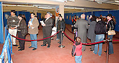 New Carrollton, MD - January 29, 2005 -- Voters wait on line to vote in the Iraqi election in New Carrollton, Maryland on January 29, 2005..Credit: Ron Sachs / CNP..(RESTRICTION: NO New York or New Jersey Newspapers or newspapers within a 75 mile radius of New York City)