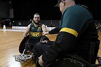 Josh Nicholson (AUS)  vs Ireland<br /> Australian Wheelchair Rugby Team<br /> 2018 IWRF WheelChair Rugby <br /> World Championship / Day 4<br /> Sydney  NSW Australia<br /> Wednesday 8th August 2018<br /> © Sport the library / Jeff Crow / APC