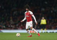 Arsenal's Mohamed Elneny<br /> <br /> Photographer Rob Newell/CameraSport<br /> <br /> UEFA Europa League Group E - Arsenal v FK Qarabag - Thursday 13th December 2018 - Emirates Stadium - London<br />  <br /> World Copyright &copy; 2018 CameraSport. All rights reserved. 43 Linden Ave. Countesthorpe. Leicester. England. LE8 5PG - Tel: +44 (0) 116 277 4147 - admin@camerasport.com - www.camerasport.com