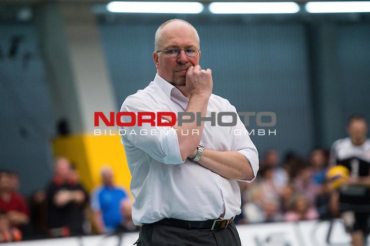 03.05.2015, ZF Arena, Friedrichshafen<br /> Volleyball, Bundesliga Maenner, Play-offs Finale 5, VfB Friedrichshafen vs. Berlin Recycling Volleys<br /> <br /> Mark Lebedew (Trainer / Coach Berlin)<br /> <br />   Foto &copy; nordphoto / Kurth