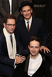 Sam Crane, Iestyn Davies, Mark Rylance attends the Broadway Opening Night performance After Party for 'Farinelli and the King' at The Belasco Theatre on December 17, 2017 in New York City.