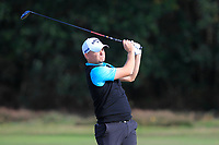 James Morrison (ENG) on the 2nd fairway during Round 3 of the Sky Sports British Masters at Walton Heath Golf Club in Tadworth, Surrey, England on Saturday 13th Oct 2018.<br /> Picture:  Thos Caffrey | Golffile